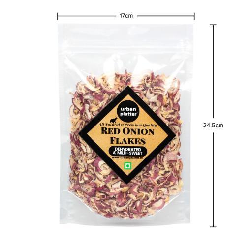 Urban Platter  Dried Red Onion Flakes, 400g / 14.1oz [All Natural, Premium Quality]