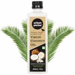 Urban Platter Virgin Coconut Oil, 500ml/17oz [All Natural, Cold-Pressed and Pure]