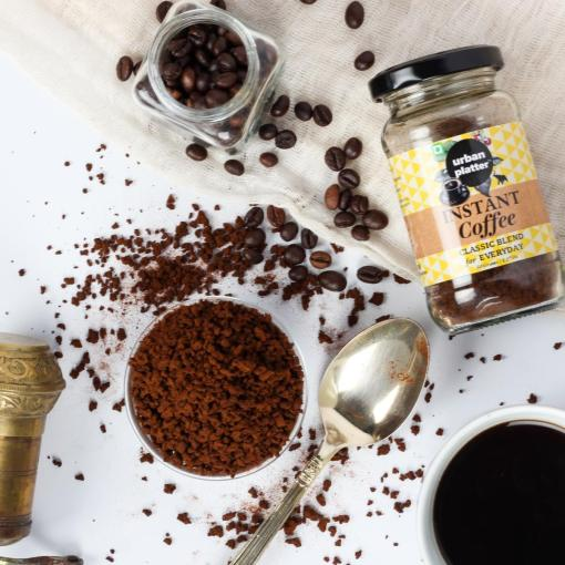 Urban Platter Instant Coffee, 50g / 1.17oz [Crafted With Arabica Beans, Rich and Smooth]