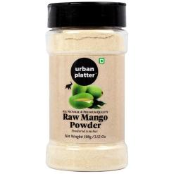 Urban Platter Dehydrated Raw Mango Powder Shaker Jar, 100g / 3.53oz [Amchur Powder, Flavorful]