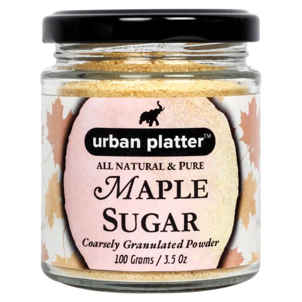 Urban Platter Canadian Maple Sugar, 100g / 3.5oz [All Natural, Pure, Coarsely Granulated Powder]