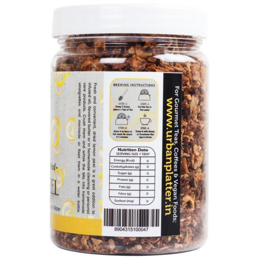 Urban Platter Dried Lemon Peel, 150g / 5.2oz [Premium Quality, Zesty & Aromatic]