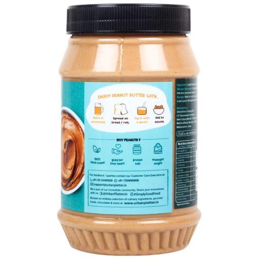 Urban Platter Natural Creamy Peanut Butter, 1kg / 35.2oz [Unsweetened, No Added Oil, Vegan]