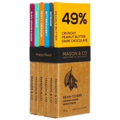 Mason & Co Dark Assorted Chocolate, 35g [Pack of 6]