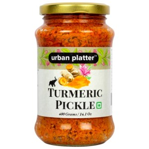 Urban Platter Turmeric Pickle, 400g / 14.1oz [Haldi ka Achaar, Nutritious & Delicious]