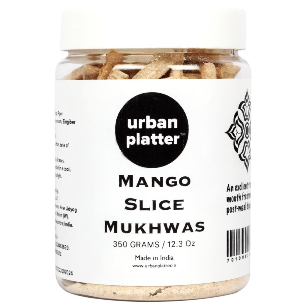 Urban Platter Mango Slice Mukhwas, 350g / 12.3oz [Mouth Freshener, Digestive, After-Meal Snack]
