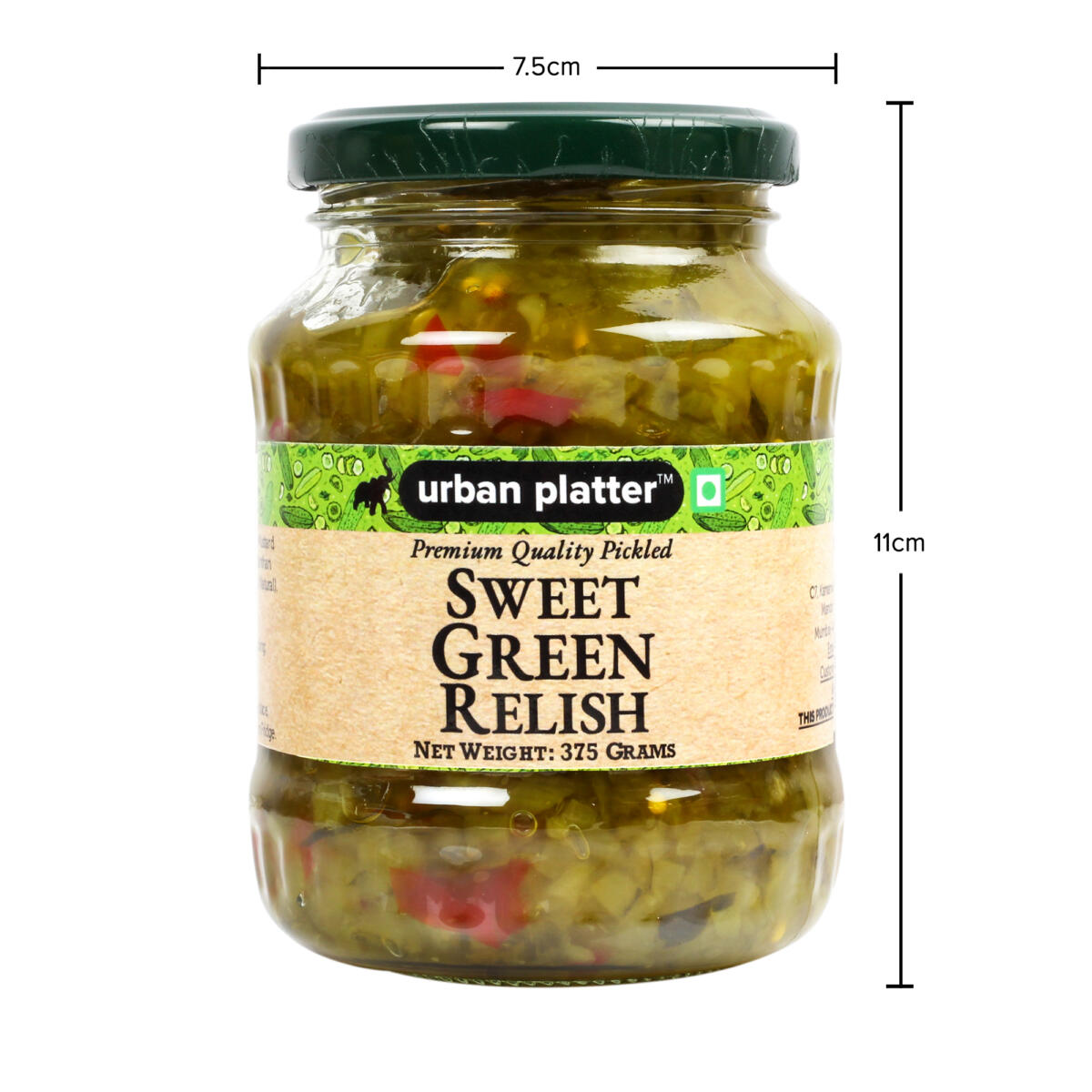Urban Platter Pickled Sweet Green Relish 375g Urban Platter