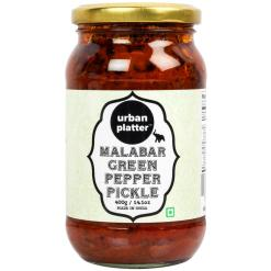 Urban Platter Malabar Green Pepper Pickle, 400g / 14.1oz [Premium Quality, Delicious, Spicy]