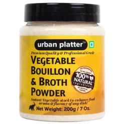 Urban Platter Vegetable Bouillon & Broth Powder, 200g [Premium Quality & Professional Grade]
