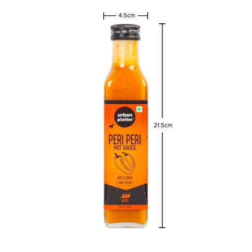 Urban Platter Peri Peri Hot Sauce, 275g / 9.7oz [Smokey, Delicious & Vegan]