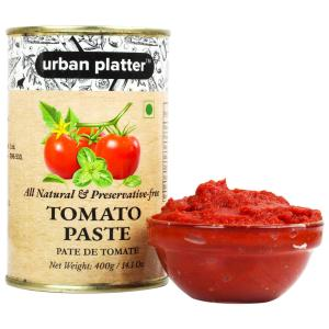 Urban Platter Tomato Paste Can, 400g / 14.1oz [All Natural, Preservative-free, Pate de Tomate]