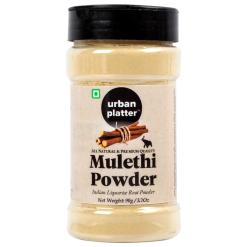 Urban Platter Mulethi Powder Shaker Jar, 90g / 3.2oz [Indian Liquorice Roots Nourishing, Energy Booster]
