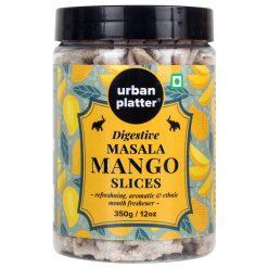 Urban Platter Digestive Masala Mango Slice Mukhwas, 350g / 12.3oz [Mouth Freshener, After-Meal Snack]
