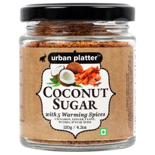 Urban Platter Coconut Sugar with 5 warming spices, 120g / 4.2oz [All Natural, Premium Quality, Healthy White Sugar Alternate]