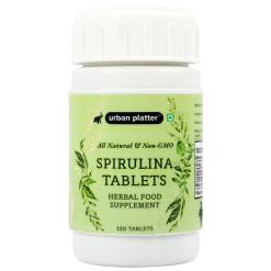 Urban Platter Spirulina Tablets [120 Tablets, Non-GMO, Herbal Food Supplement]