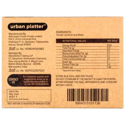 Urban Platter Vegan Meat (Jackfruit), Original, 300g / 10.5oz [MockMeat, Ready to Cook, Plant-Based Protein]
