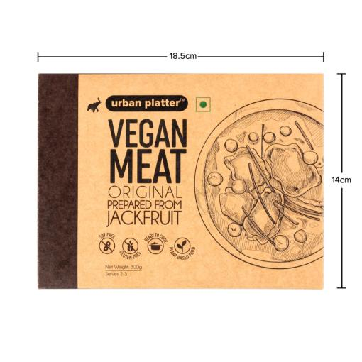 Urban Platter Vegan Meat (Jackfruit), Original, 300g / 10.5oz [MockMeat, Ready to Cook, Plant-Based Protein]