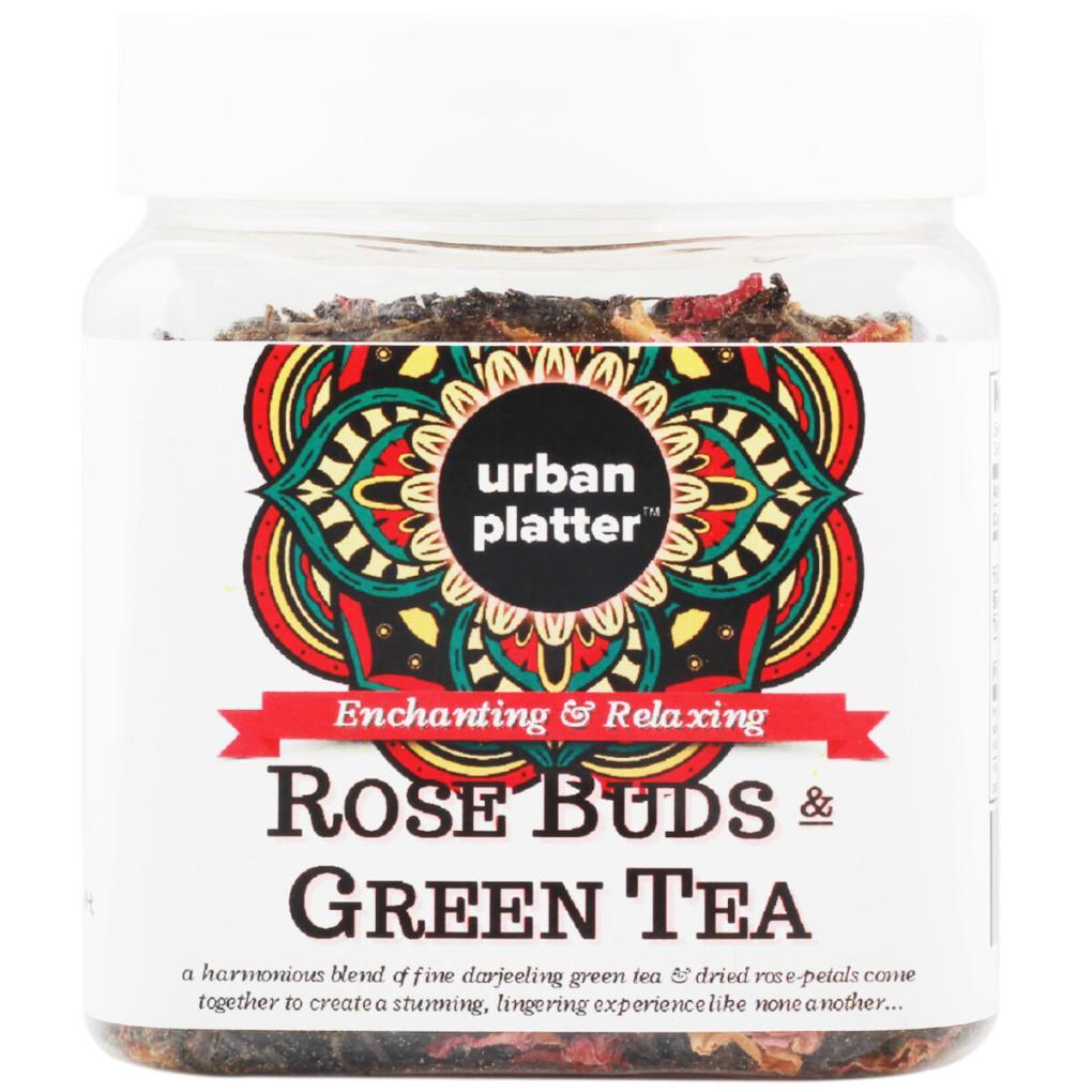 Urban Platter Rose Buds & Green Tea, 100g