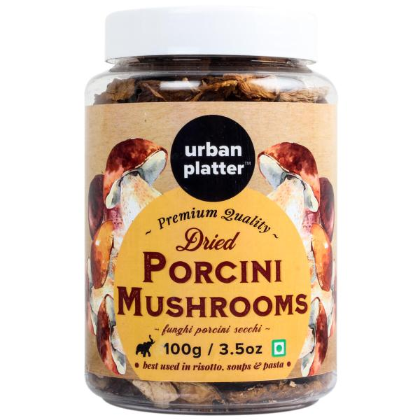 Urban Platter Dried Italian Porcini Mushrooms, 100g / 3.5oz [Sun-Dried, Funghi Porcini Secchi]