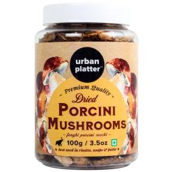 Urban Platter Dried Italian Porcini Mushrooms, 100g / 3.5oz [Sun-Dried, Funghi Porcini Secchi]