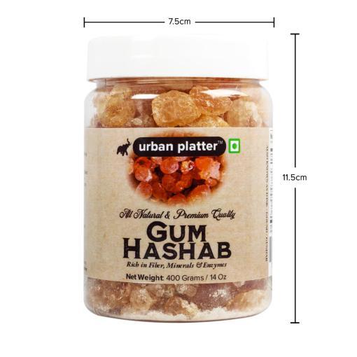 Urban Platter Gum Hashab (Dink/Gound), 400g / 14oz [Rich in Fiber, Mineral & Enzymes]