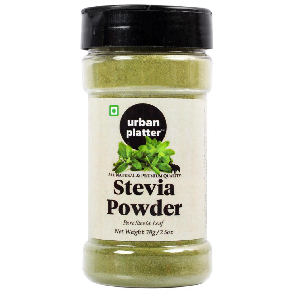 Urban Platter Stevia Leaf Powder Shaker Jar, 70g