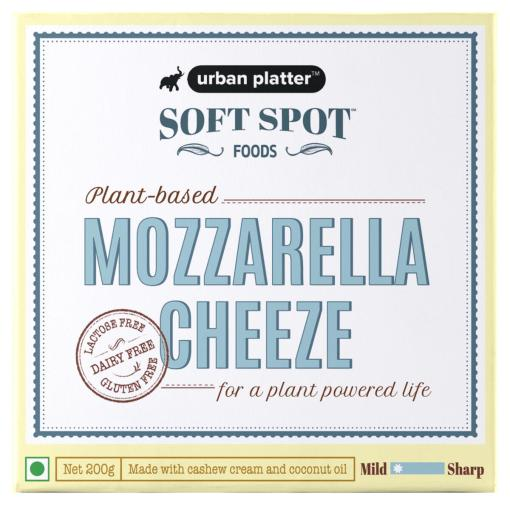 Urban Platter Vegan Mozzarella Cheeze, 200g / 7oz [Plant-Based Cheese, Lactose-Free, Powered by Soft Spot Foods]