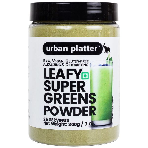 Urban Platter Leafy Super Greens Powder, 200g [Raw, Vegan, Gluten-free, Alkalizing & Detoxifying]