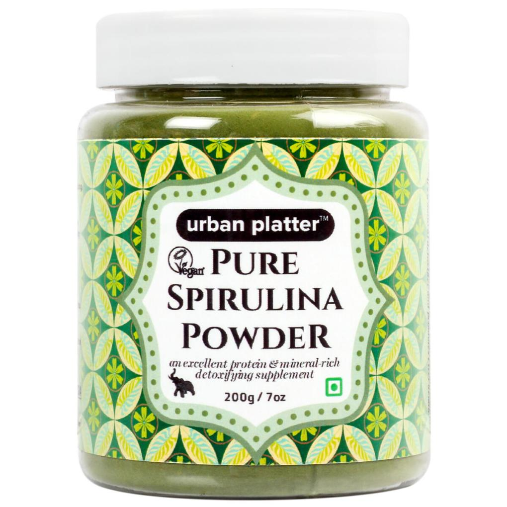 Urban Platter Pure Spirulina Powder, 200g / 7oz [All-natural and Mineral-rich Detoxifying Supplement]