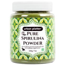 Urban Platter Pure Spirulina Powder, 200g / 7oz [All-natural and Mineral-rich Detoxifying Supplement]
