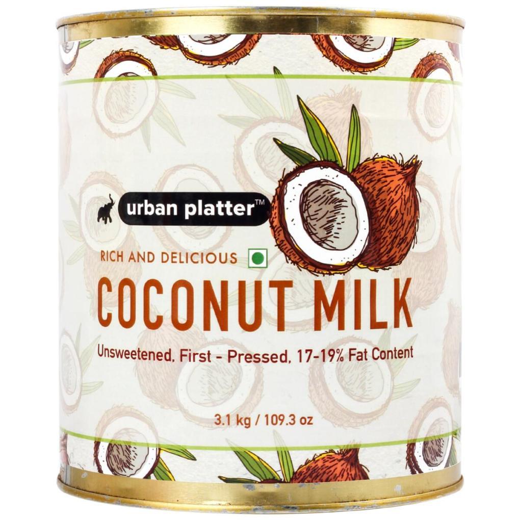 Urban Platter Coconut Milk HoReCa Pack, 3.1 Kg / 109 oz [Unsweetened, First-Pressed,17-19% Fat Content]