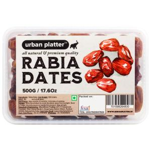 Urban Platter Rabia Dates, 500g / 17.6oz [All Natural, Khajur & Middle-Eastern Dates]
