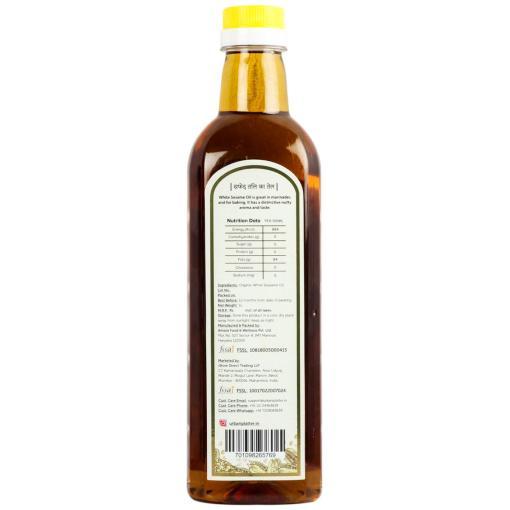 Urban Platter Organic White Sesame (Til) Oil, 1 Litre / 33.8 fl.oz [Cold Pressed, Nutty, Aromatic]