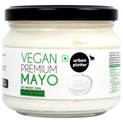 Urban Platter Vegan Premium Mayo, 300g / 10.6oz [Dairy-free Mayonnaise, No Palm Oil, No Trans-fat]