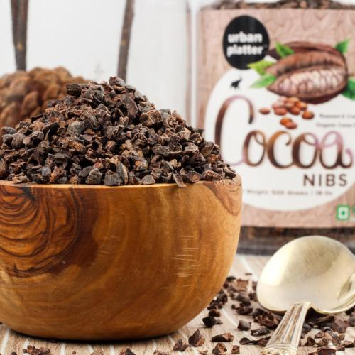 Urban Platter Cocoa Nibs, 250g / 8.8oz [Unprocessed, Aromatic, Food of The Gods!]