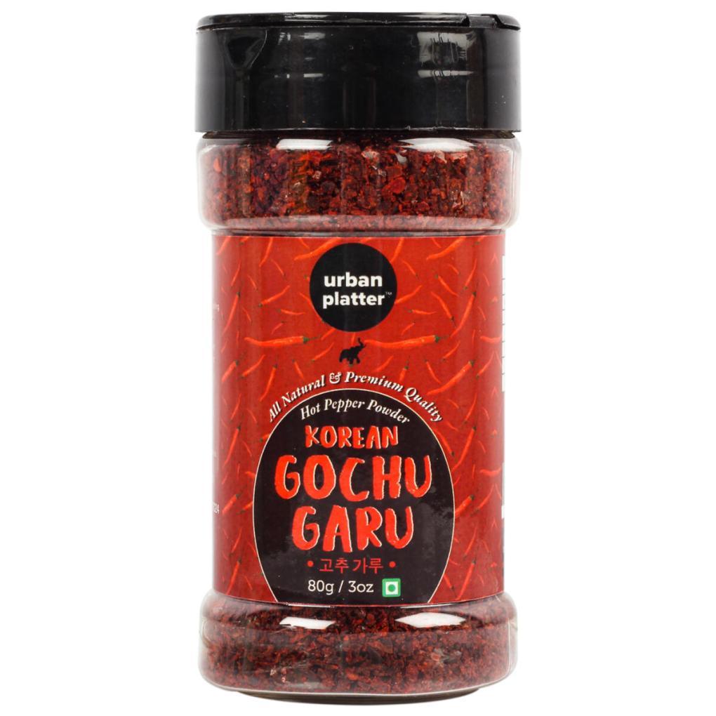 Urban Platter Korean Gochugaru Hot Pepper Powder Shaker Jar, 80g / 3oz [Red Pepper Powder for Kimchi and other Korean Dishes]