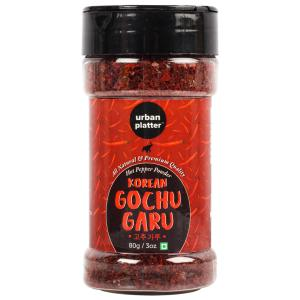 Urban Platter Korean Gochugaru Hot Pepper Powder Shaker Jar, 80g / 3oz [Red Pepper Powder for Kimchi and other Korean Dishes]