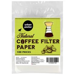Urban Platter V60 Natural Coffee Filter Paper, Size - 7inch W x 5inch H [100 Sheets, Coffee Sock, Disposable, Hario Compatible]
