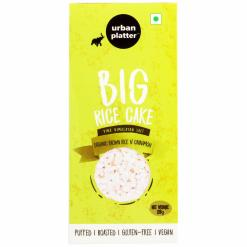 Urban Platter Organic Puffed Cinnamon and Brown Big Rice Cakes, 125g