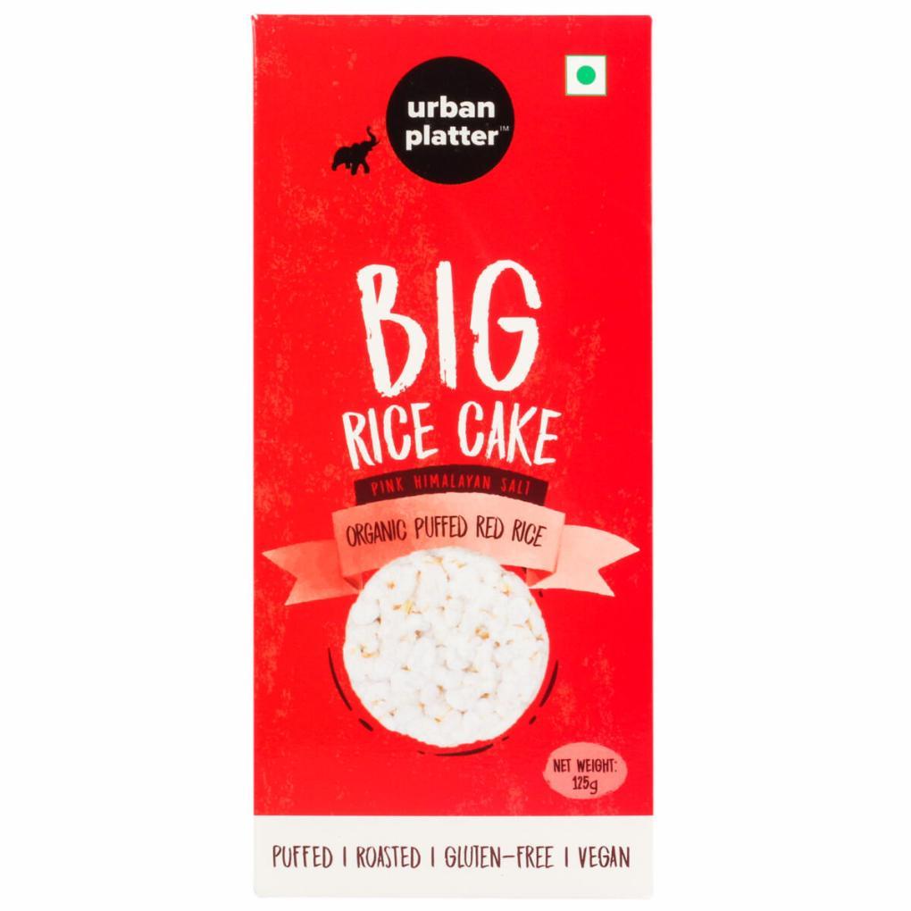 Urban Platter Organic Puffed Red Big Rice Cakes, 125g