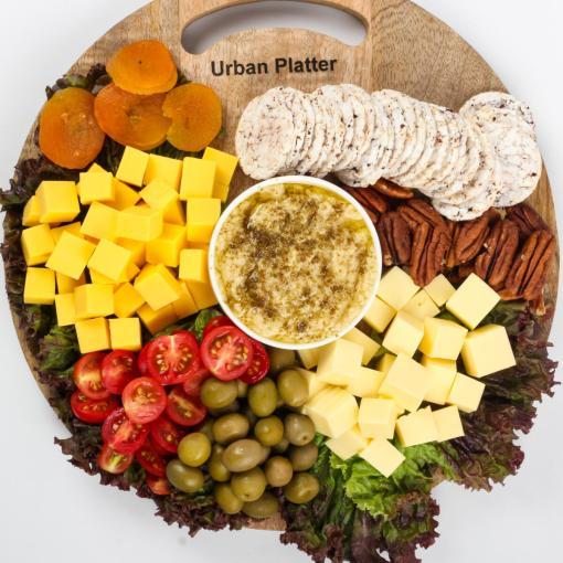 Urban Platter Organic Puffed Spiced White Big Rice Cake Thins, 125g
