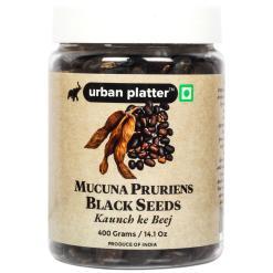 Urban Platter Mucuna Pruriens Black Seeds, 400g / 14.1oz [Indian Jadibooti, Kaunch k Beej, Velvet Bean]