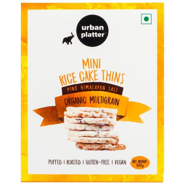 Urban Platter Organic Multigrain Mini Rice Cake Thins, 100g