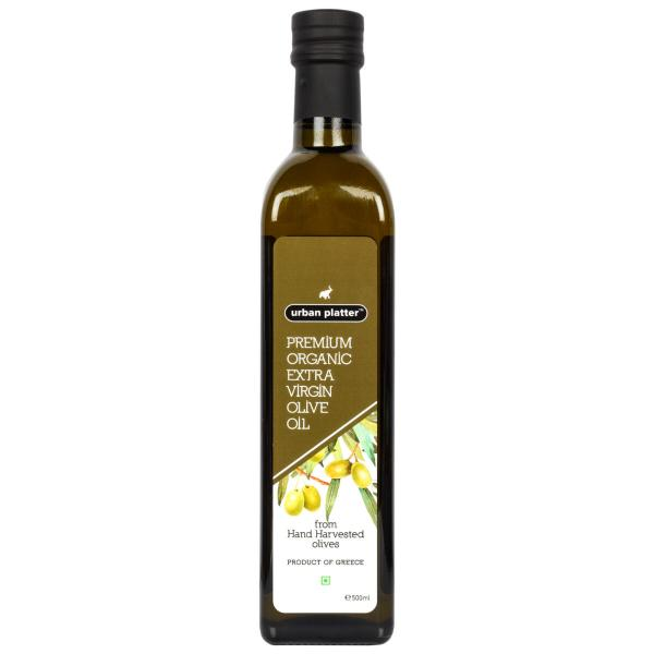 Urban Platter Premium Organic Extra Virgin Olive Oil, 500ml [Hand Harvested Olives, Imported, Product Of Crete, Greece]