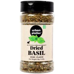 Urban Platter Dried Basil Flakes Shaker Jar, 30g / 1.1oz [Premium Quality, Tulsi]