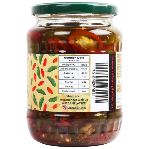 Urban Platter Sweet & Spicy Sliced Jalapenos , 670g / 23.6oz [Drained Weight 380g]