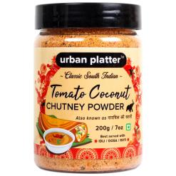Urban Platter South Indian Style Instant Tomato Coconut Chutney Powder, 200g / 7oz [Nariyal ki Chutney, Just Add Water]
