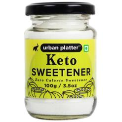 Urban Platter Keto Sweetener, 100g / 3.5oz [Monk Fruit Extract, Zero Calories, Sugar Alternate]