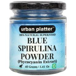 Urban Platter Blue Spirulina Powder, 40g [Phycocyanin Extract, All-natural Superfood]