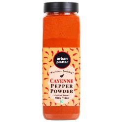 Urban Platter Cayenne Pepper Powder Shaker Jar, 400g / 14oz [Capsicum Annum, Spicy Pepper Powder]